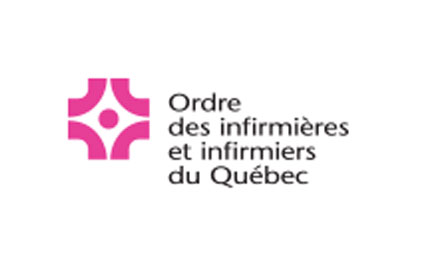 Marie-Josée receives a recognition award from her regional order of nurses